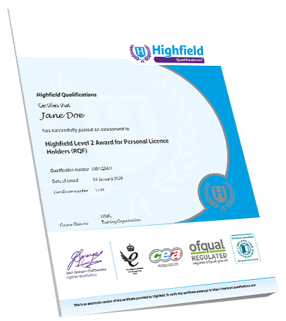 Level 2 Award for Personal Licence Holders - Qualification