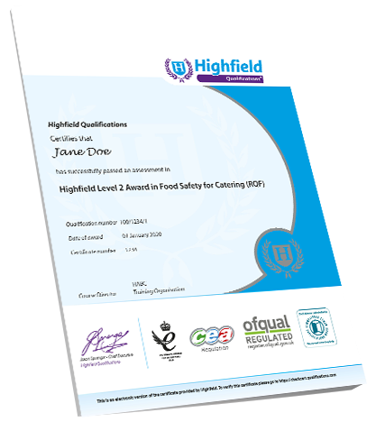 Food Safety Level 2 - Qualification