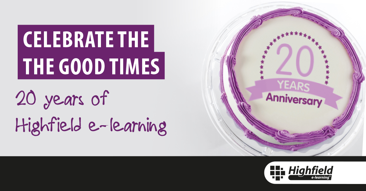 20 Years of Highfield E-learning cake