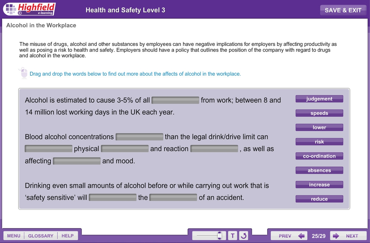 Health Amp Safety Level 3 Highfield E Learning